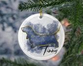 Custom Basset Hound Porcelain Ornaments, Canis Major Constellation, Memorial Gift, Dog Lover Mom. Personalization Gift
