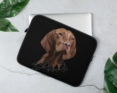 Vizsla Laptop Sleeve, Hungarian vizsla gift,  practical gift for every vizsla mom and vizsla dad, personalized gift