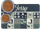 Custom Hunting Dog patchwork style Pet Placemats, Basset Hound, Beagle, Pointer, Vizsla Lover Gift