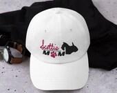 Scottish terrier baseball mom hat