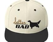 Setter dad Snapback Hat - English setter - Gordon setter - Irish setter lover