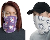 Samoyed mom and dad couple mask/ Neck Gaiter
