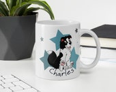 Custom Border Collie Mug, Super cute puppy border collie gifts for border mom and border dad