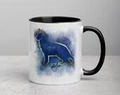 Custom German shepherd Mug with Color Inside with Color Inside Major Constellation, Memorial Gift, Dog Lover Mom