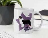 "Australian shepherd mug, Mothers Day Gift, ""Pawsome Aussie Mom Mug"", Australian & Mini Australian Shepherd Dog Lover Gifts, Aussie lover"