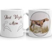 Custom Hungarian Vizsla Mug, Personalized text vizsla mug, best gift for vizsla mom and vizsla dad