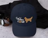 Golden retriever lover baseball Dad hat