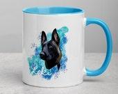 Custom belgian malinois Mug with Color Inside, perfect malinois gift for every malinoi lover