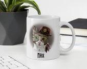 Cat  Dad Custom Mug, Real man love cats mug, Cat dad, cat daddy mug