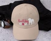 English Bulldog mom baseball hat, bulldog Dad hat