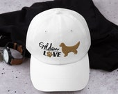 Golden retrieverlover baseball hat, perfect gift for golden mom and golden Dad hat,Silhouette hat for Golden Mama