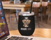 Boxer Dad Gift Stemless Wine Tumblers