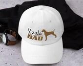 Hunting dog Dad hat, Baseball Hat, Trucker Cap, Vizsla cap for Girl, hunting gift for men