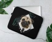 Pug Laptop Sleeve, Pug gifts, Personalized pug laptop sleeve, perfect giftst every puf mom and pug dad, Dog laptop sleeve,