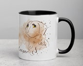Custom chesapeake bay retriever Mug with Color Inside, Funny cartoon retriver drawing
