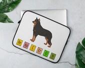 Beauceron Laptop Sleeve, Dog laptop case, super gift for dog owners
