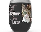 Cat Lover Women Stemless Wine Tumblers