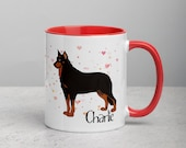 Beauceron Mug with Color Inside, Beauceron gift for belgian beauceron dad and mom