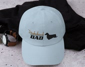 Long haired dachshund Dad hat
