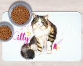 Custom Cat Pet Placemats, Crazy cat lady gift, Dog Bowl Mat, Custom Pet Gifts, Custom Pet Mat, Baby feeding mat