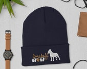 American staffordshire terrier Cuffed Beanie, Christmas amstaff gift, winter dog walking gift