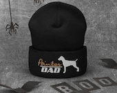 Pointer Dad Cuffed Beanie, Pointer owner christmas gift, Hunter hat, Pointer lover cat