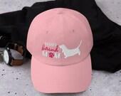 Basset honud baseball hat for basset hound mom, hunting dog Dad hat