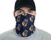 German shepherd Neck Gaiter /Dog Lovers Neck Gaiter/Reusable Mask Headband/Dog Mom,Dog Dad,Dog Lovers Face