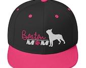 Boston terrier mom Snapback Hat