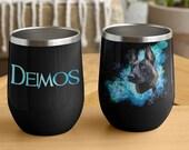 Custom Belgian Malinois Stemless Wine Tumblers malinois mug with custom text or name