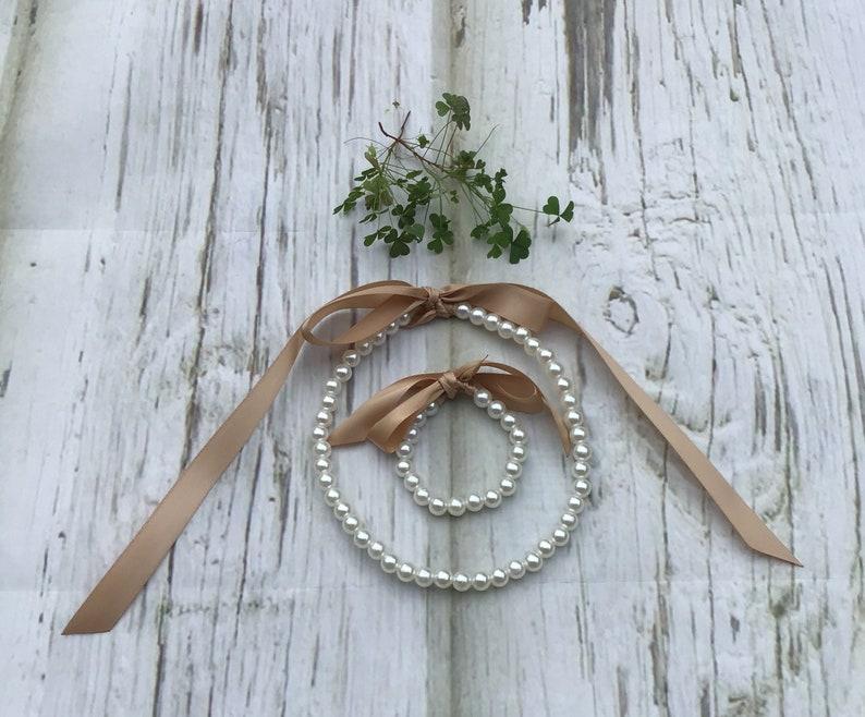 Flower Girl Pearl Necklace Set Flower Girl Jewelry Set Flower Girl Pearl Necklace and Bracelet Set,Flower Girl Gift Set