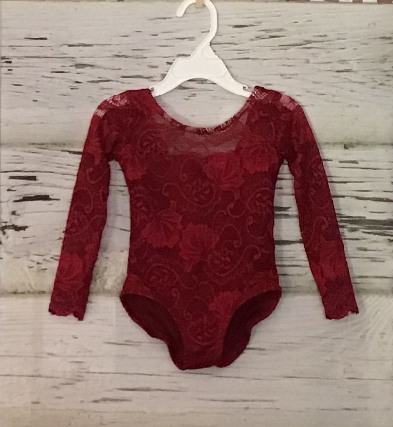 Long or Short Sleeve Burgundy  Lace Leotard Leotard,Lace Romper, Burgundy Lace Leotard forgirls,Bodysuit Lace Leotard