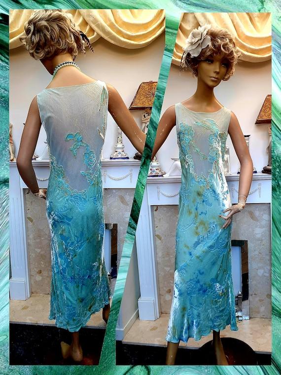 20's 30's Downton Abbey Formal Evening Dress, Bias
