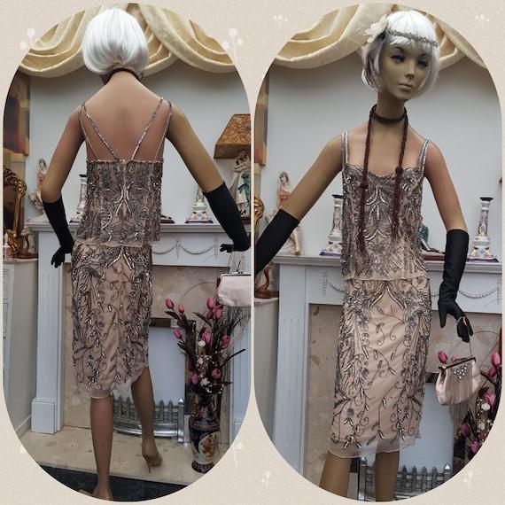20's 30's Flapper Dress Art Deco Layered Flapper B