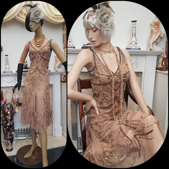 1920's Downton Abbey Formal Evening Dress  SIZE 8U