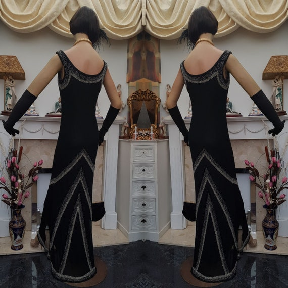 1930's Downton Abbey Evening Formal Gown Old Holly