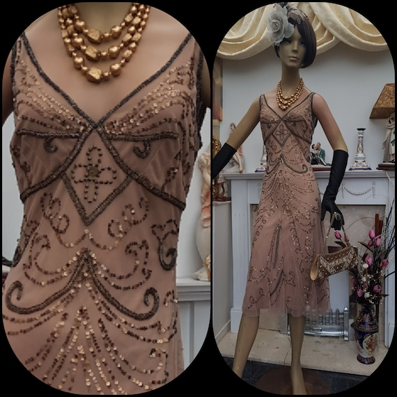 1920's Downton Abbey Formal Evening Dress  SIZE 8U