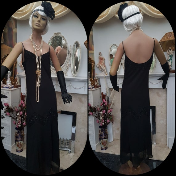 1920's Downton Abbey Formal Evening Dress, Beaded