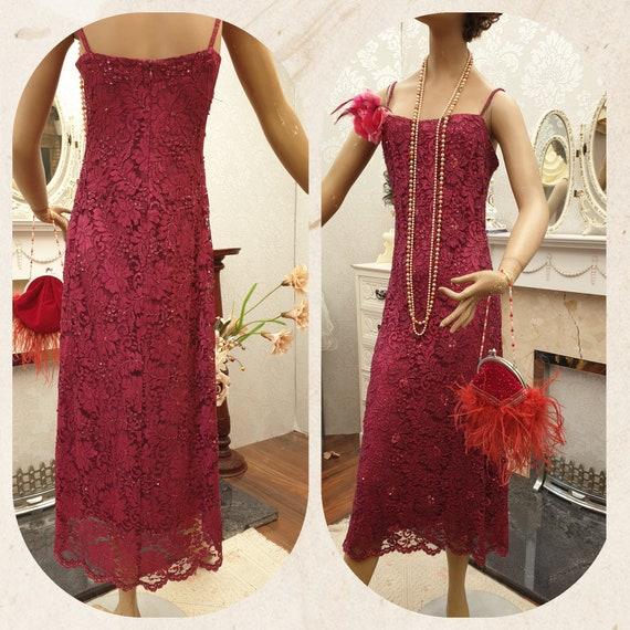 1920's Downton Abbey Formal Evening Dress Size 14U