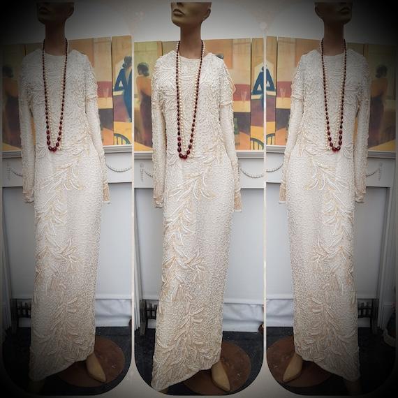 1920's Downton Abbey Formal Evening Dress Size 10U