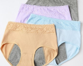Black 3 Pair of either Pink Gray young girlswomen/'s underwear Small /& Medium sized menstrual Panties.