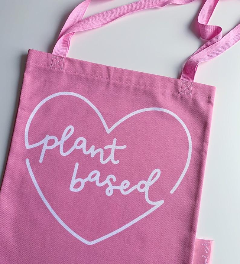 Plant Based Vegan Tote Bag  Reusable Bag  Shopping Bag