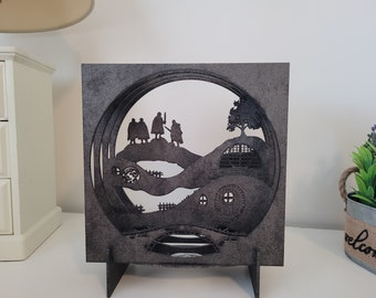 Hobbits and the Shire 3D Lamp