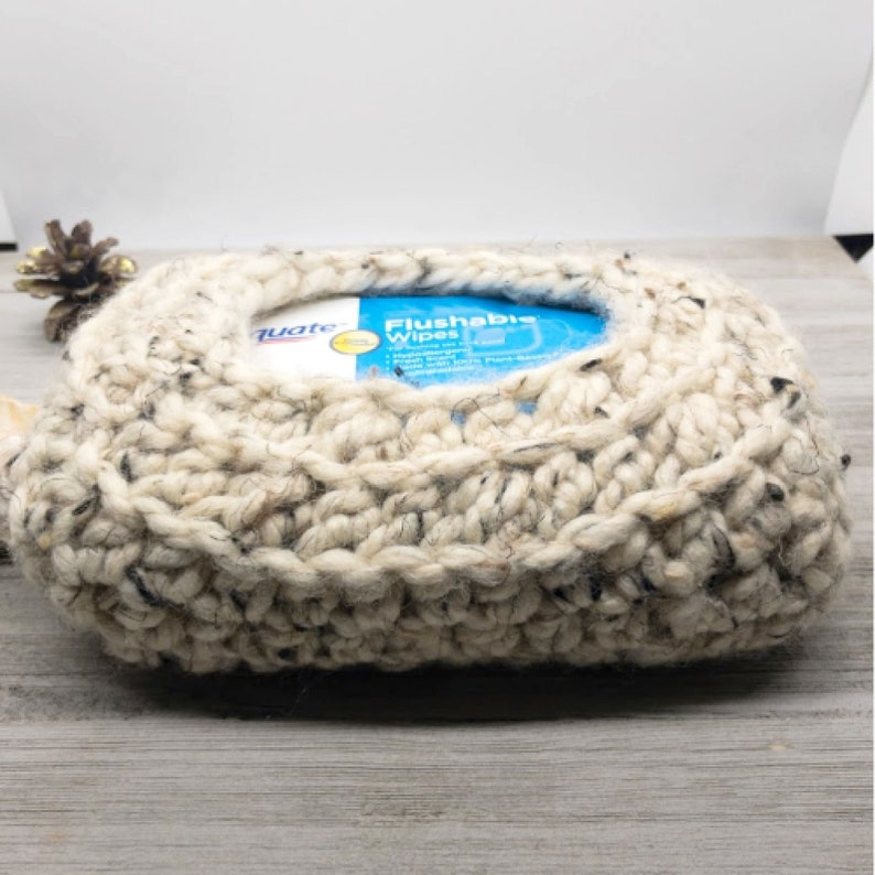 Bathroom Wipes Cozy Crochet Pattern Beginner Bathroom Decor image 0