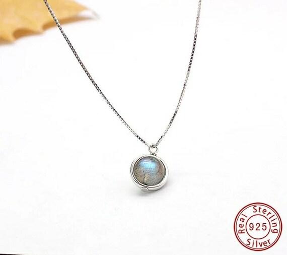 925 Sterling Silver Labradorite Pendant Necklace For Women Nature Gemstone Handmade statement festival birthday gift for sister gift for her