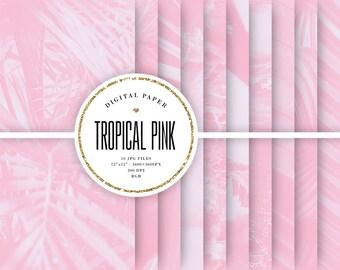 33+ Tropical Tones Digital Paper Design