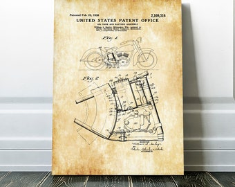 harley oil tank patent 1938 – harley davidson art, patent print, wall  decor, motorcycle decor, harley patent, harley bike