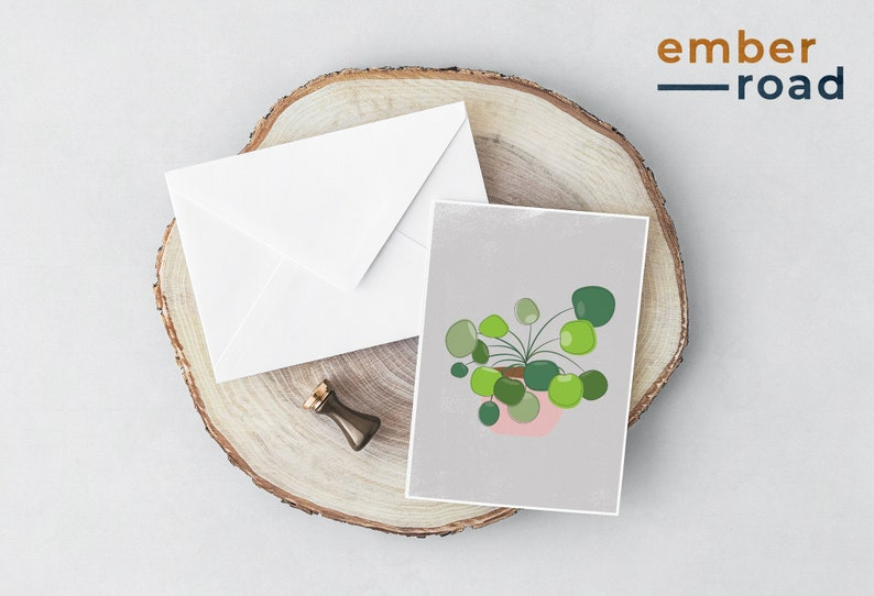 by Ember Road Designs Notecards Set Modern Plant Art Cards Plant Mom Gift