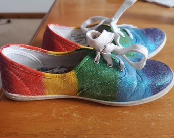 5ad1a30efd Pride LGBT shoes hand painted