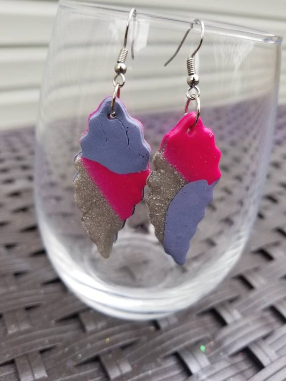 Small Handcrafted Clay Art Earrings ( Various styles )